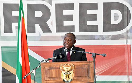 <h5><strong>SUDAFRICA</strong></h5>Discurso del presidente Cyril Ramaphosa con motivo de las celebraciones del Día Nacional de la Libertad